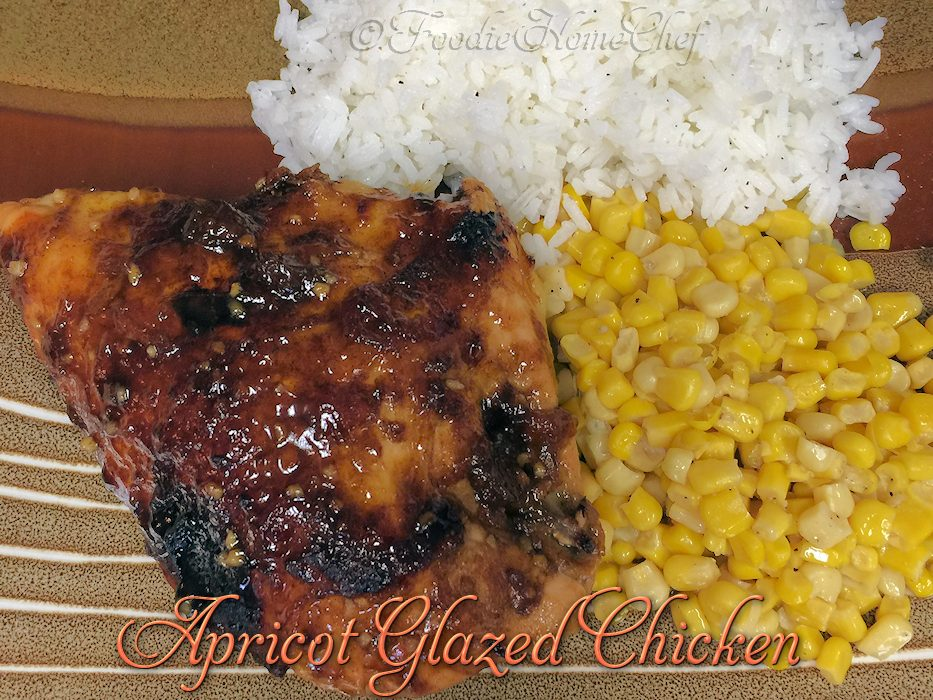 Apricot Glazed Chicken - Foodie Home Chef