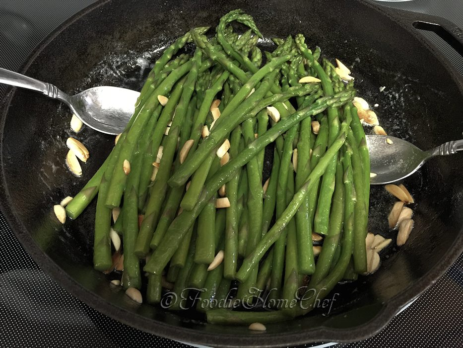 Asparagus Amandine - Foodie Home Chef