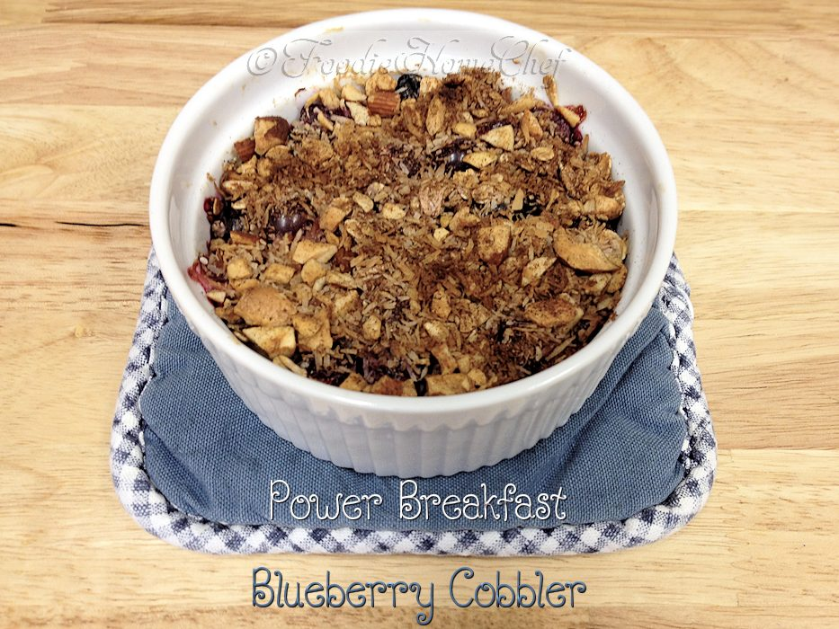 Power Breakfast Blueberry Cobbler