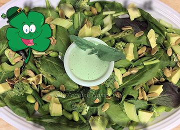 Green Greens Salad w/Basil Ranch Dressing