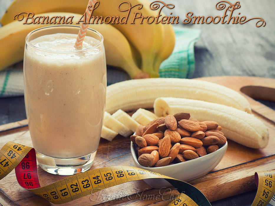 Banana Almond Protein Smoothie