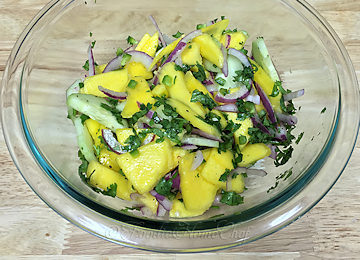 Refreshing Mango Salsa Salad