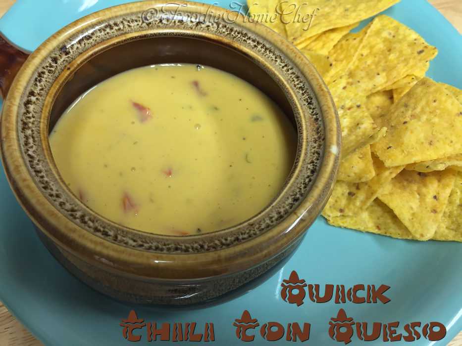 Quick Chili Con Queso