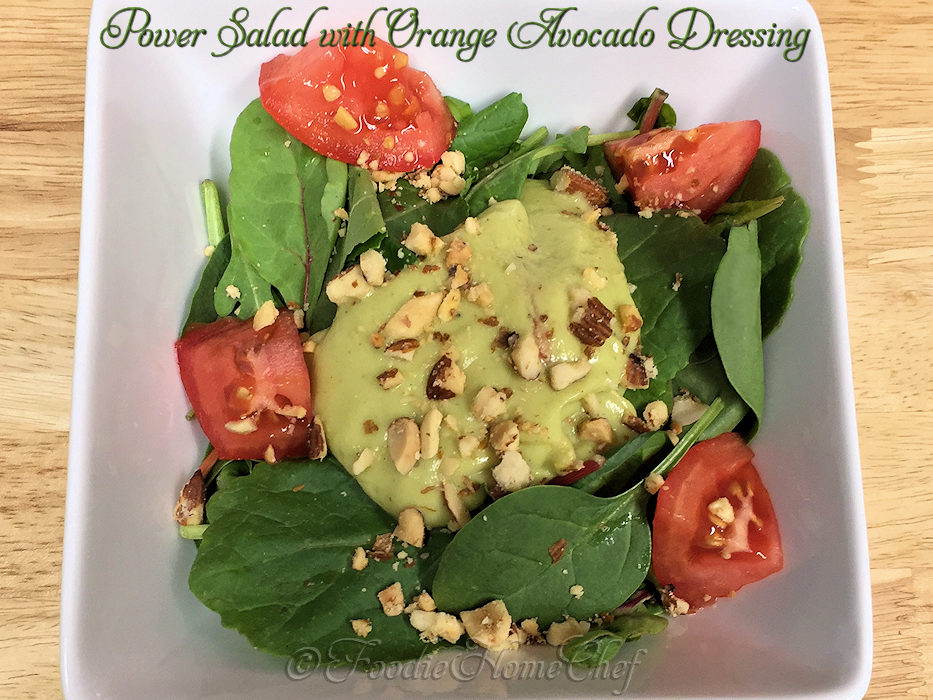 Power Salad with Orange Avocado Dressing