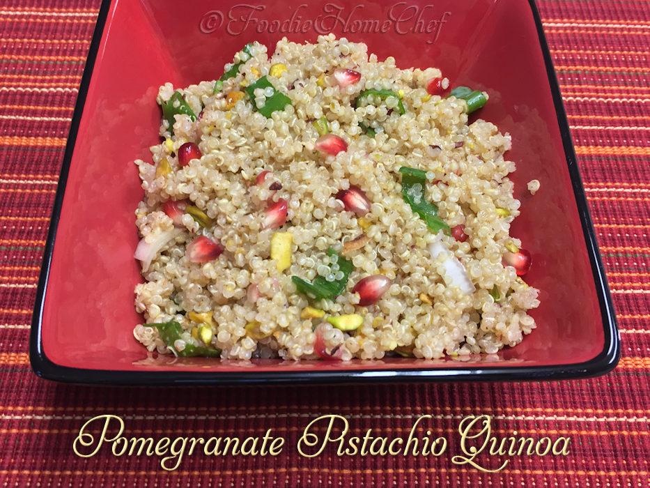 Pomegranate Pistachio Quinoa