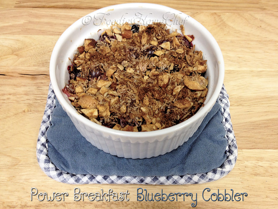 Power Breakfast Blueberry Cobbler