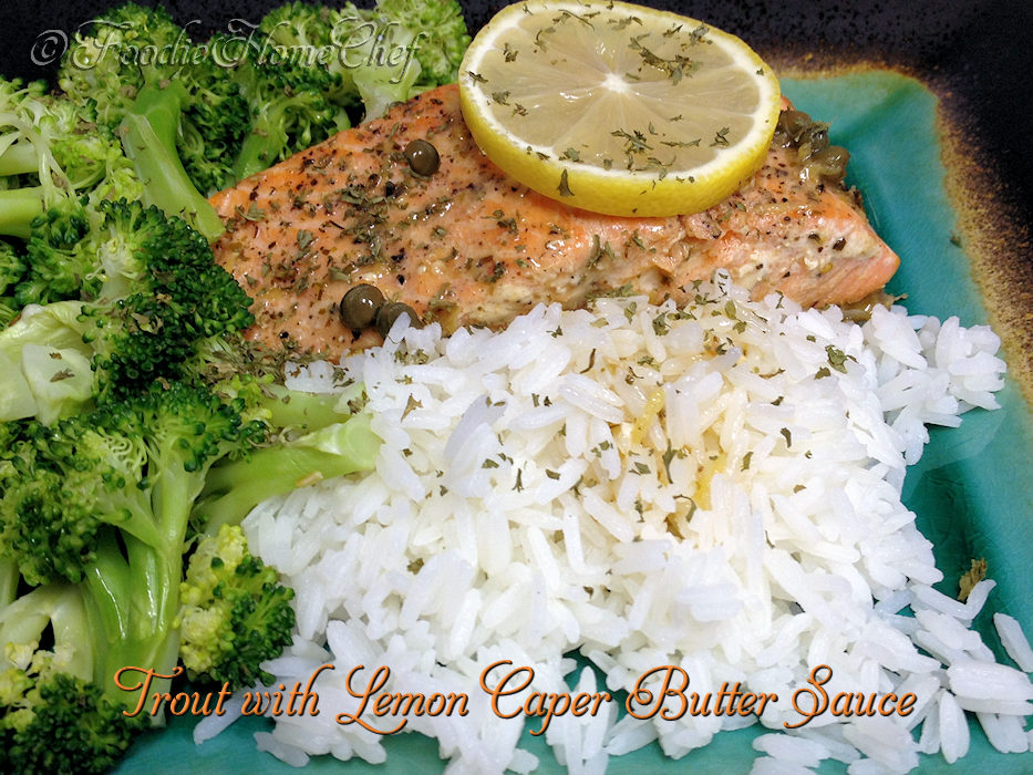 Trout with Lemon Caper Butter Sauce