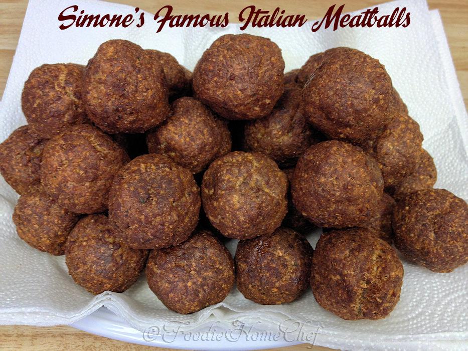 Simone's Famous Italian Meatballs