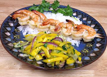 Spicy Shrimp Skewers