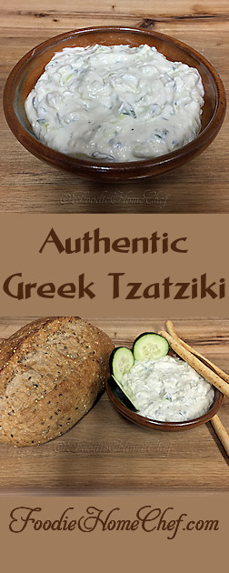 Authentic Greek Tzatziki - serve Tzatziki as a dip with hunks of whole grain crusty bread or bread sticks as a snack or appetizer. The Greeks also serve it with roasted lamb or any grilled meat. Excellent served with an assorted vegetable platter & it's even good as a healthy sandwich spread. The uses for this sauce/dip is really limitless! --------- #Food #Cooking #Recipes #Recipe #GreatFood #HomeCooking #Tzatziki #GreekTzatziki #TzatzikiRecipes #Appetizers #Snacks #HealthyRecipes #GreekFood