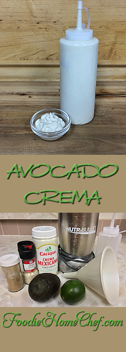 Avocado Crema --------- #Food #Cooking #Recipes #Recipe #Condiments #CondimentRecipes #MexicanFood #MexicanRecipes #AvocadoCrema #Crema #Avocado #Sauce #SauceRecipes #TacoSauce #Tacos #Nachos #Burritos #Enchiladas