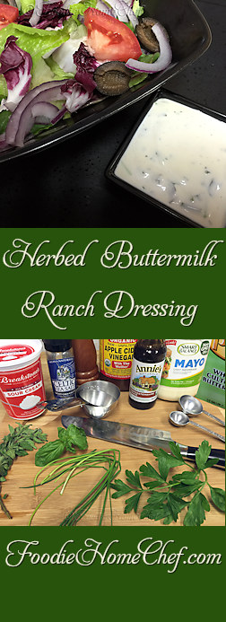 Herbed Buttermilk Ranch Dressing - Move over commercially prepared ranch dressings, there's a new, easy to make dressing in town & it's comin' for your salad! Everyone I've served this to says it's the best ranch dressing they've ever had! --------- #Food #Cooking #Recipes #Recipe #Salad #SaladDressing #SaladDressingRecipes #RanchSaladDressing #ButtermilkRanchDressing #RanchDressing #HomemadeSaladDressing #HealthyRecipes
