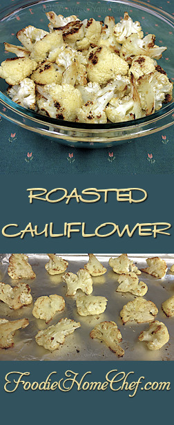 Roasted Cauliflower - Think cauliflower is tasteless & boring? Not anymore! When you roast cauliflower, it brings out it's wonderful nutty flavor. A true superfood you'll want to add to your diet on a regular basis. --------- #Food #Cooking #Recipes #Recipe #Cuisine #GreatFood #HomeCooking #SideDish #SideDishRecipes #Vegetarian #VegetarianRecipes #Vegan #VeganRecipes #Vegetables #HealthyRecipes #RoastedVegetables #Cauliflower #RoastedCauliflower #CauliflowerRecipes #Superfood