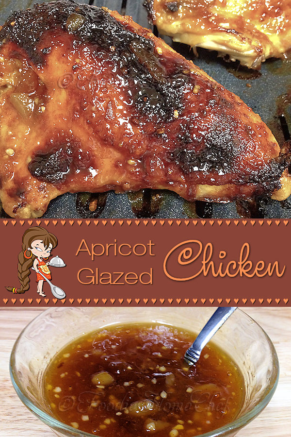 Apricot Glazed Chicken - My favorite chicken recipe & I absolutely get cravings for it! I love to serve it with Jasmine Rice, as there's something about the combination of the tangy chicken along with the nutty flavor of Jasmine Rice that always gets my mouth watering! --------- #ApricotChicken #ApricotGlazedChicken #Chicken #ChickenRecipes #BakedChicken #Dinner #DinnerRecipes #Food #Cooking #Recipes #Recipe #FoodieHomeChef