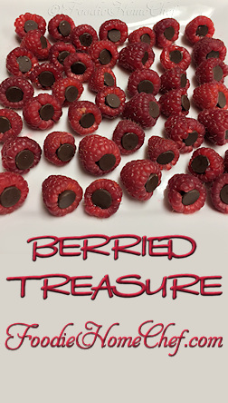Berried Treasure - Warning... addictive! One of my favorite snacks & super easy to make. These also make a fun & healthy dessert for the whole family. --------- #Food #Cooking #Recipes #Recipe #Cuisine #GreatFood #HomeCooking #Fruit #FruitRecipes #HealthyRecipes #HealthyDesserts #Dessert #Snack #Raspberries #Chocolate