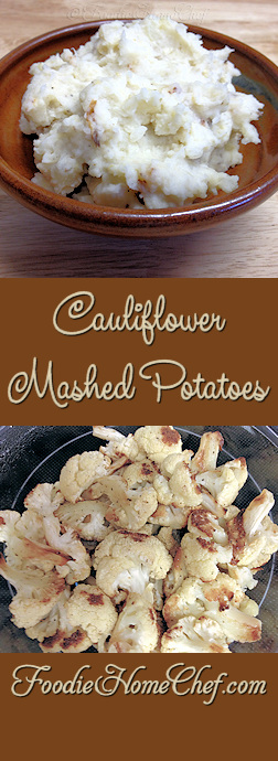 Cauliflower Mashed Potatoes - This combo brings a new level of flavor & nutrients to #MashedPotatoes. It's also a clever way to sneak precious veggies into your kid's diet. They can't see the #cauliflower & will devour this just as though they were eating regular Mashed Potatoes! --------- #Food #Cooking #Recipes #Recipe #Cuisine #GreatFood #HomeCooking #ComfortFood #Potatoes #PotatoRecipes #CauliflowerMashedPotatoes #CauliflowerRecipes #SideDish #SideDishRecipes #Vegetables #HealthyRecipes