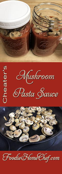 Cheater's Mushroom Pasta Sauce - I love mushrooms in my #PastaSauce & when I used to buy #MushroomPastaSauce in the grocery store, you could actually see good sized pieces of mushrooms in the jar. Not anymore, in the decades since the 1980's, the mushrooms have basically disappeared. So, when I buy pre-made pasta sauce, I jazz it up with mushrooms myself! --------- #Food #Cooking #Recipes #Recipe #Cuisine #GreatFood #HomeCooking #ComfortFood #ItalianFood #ItalianRecipes #PastaSauceRecipes