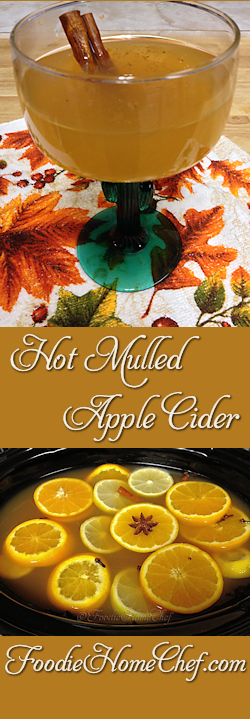 Hot Mulled Apple Cider - On a cold day, there's nothing more comforting & delicious than sipping on this hot cider. The warm, soothing spices, citrus & apple are a blend made in heaven! Don't limit yourself to serving this hot, this cider also makes a very refreshing cold drink on a hot summer day. --------- #Food #Cooking #Recipes #Recipe #Cuisine #GreatFood #HomeCooking #ComfortFood #AppleCider #Cider #CiderRecipes #MulledAppleCider #HotCider #AppleRecipes #WinterBeverages