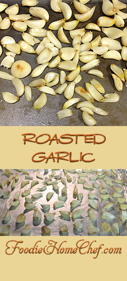 Roasted Garlic - #Garlic tastes fantastic when it's roasted, very different from raw garlic. I like to make a lot of it at once & store it in the freezer. That way, I always have it on hand to use in a variety of recipes, on pizza, in soups, spread it on bread or rolls... the uses are endless! --------- #Food #Cooking #Recipes #Recipe #Cuisine #GreatFood #HomeCooking #Vegetarian #VegetarianRecipes #Vegan #VeganRecipes #Vegetables #HealthyRecipes #RoastedGarlic