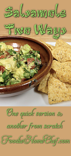 Salsamole Two Ways - I'm always looking for new & tasty ways to add more healthy #avocado into my diet & this really fits the bill. I've included 2 ways to make this #recipe, one easy version from scratch & the second is even easier! --------- #Food #Cooking #Recipes #Cuisine #GreatFood #HomeCooking #Salsamole #Guacamole #MexicanRecipes #MexicanFood #DipRecipes #Dip #Party #PartyRecipes #AvocadoRecipes #GameDayRecipes #SuperBowlRecipes #Appetizers #AppetizerRecipes #Snacks #SnackRecipes