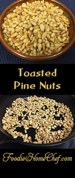 Toasted Pine Nuts - I just love #PineNuts especially when they're toasted. Store these either in the frig or freezer, in a covered glass container, so you'll always have some on hand for salads, pesto or to use in other recipes. --------- #Food #Cooking #Recipes #Recipe #Cuisine #GreatFood #HomeCooking #Vegetarian #VegetarianRecipes #Vegan #VeganRecipes #HealthyRecipes #ToastedPineNuts #PineNuts #Pinon #PinonNuts #SaladToppings #Pesto