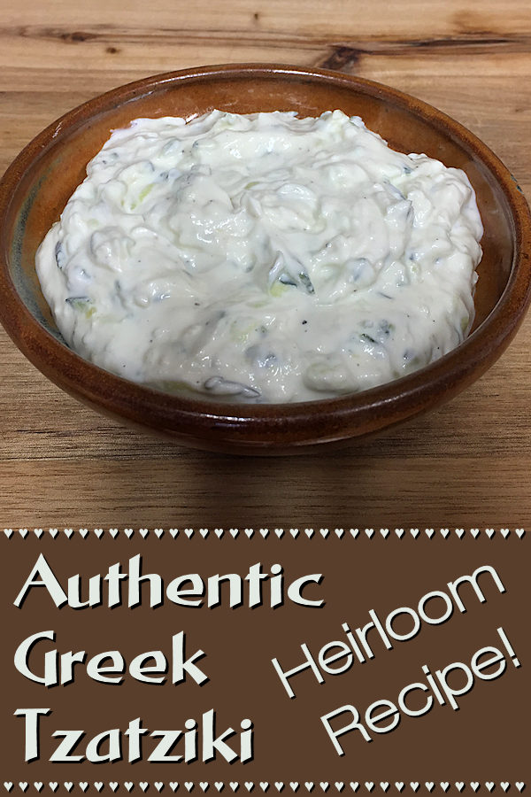 Authentic Greek Tzatziki - This recipe was generously gifted to me by a friend's Greek grandma. She told me that most Tzatziki recipes aren't traditional, as they have lemon and/or dill in them. Hers is the genuine recipe, the way it's served all over Greece. If you're a garlic lover, you're going to adore this! --------- #Tzatziki #TzatzikiDip #GreekTzatziki #TzatzikiRecipes #GreekFood #GreekRecipes #Appetizers #Snacks #DipRecipes #HealthyRecipes #Food #Cooking #Recipes #Recipe #FoodieHomeChef
