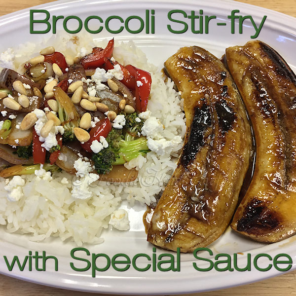 Broccoli Stir-fry is so easy to make & can be prepped in advance. A favorite at my house for Meatless Monday or Foodie Fryday. Delicious on it's own, but absolutely fabulous when served with my Fried Bananas recipe on the side! --------- #StirFry #StirFryRecipes #AsianFood #AsianRecipes  #VegetarianRecipes #VeganRecipes #HealthyRecipes #BroccoliRecipes #Food #Cooking #Recipes #Recipe #FoodieHomeChef