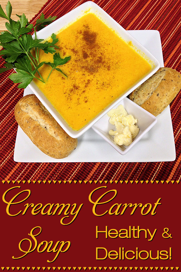 A fabulous comfort food soup to serve during the Autumn & Winter months. Don't limit yourself to that though, Carrot Soup can also be served cold during the Spring & Summer! Very healthy, delicious & easy to make. You can also make this Vegan by substituting the chicken broth with vegetable broth. --------- #CarrotSoup #CarrotCoconutSoup #SoupRecipes #Soup #CarrotRecipes #VegetarianRecipes  #VeganRecipes #HealthyRecipes #Food #Cooking #Recipe #Recipes #FoodieHomeChef