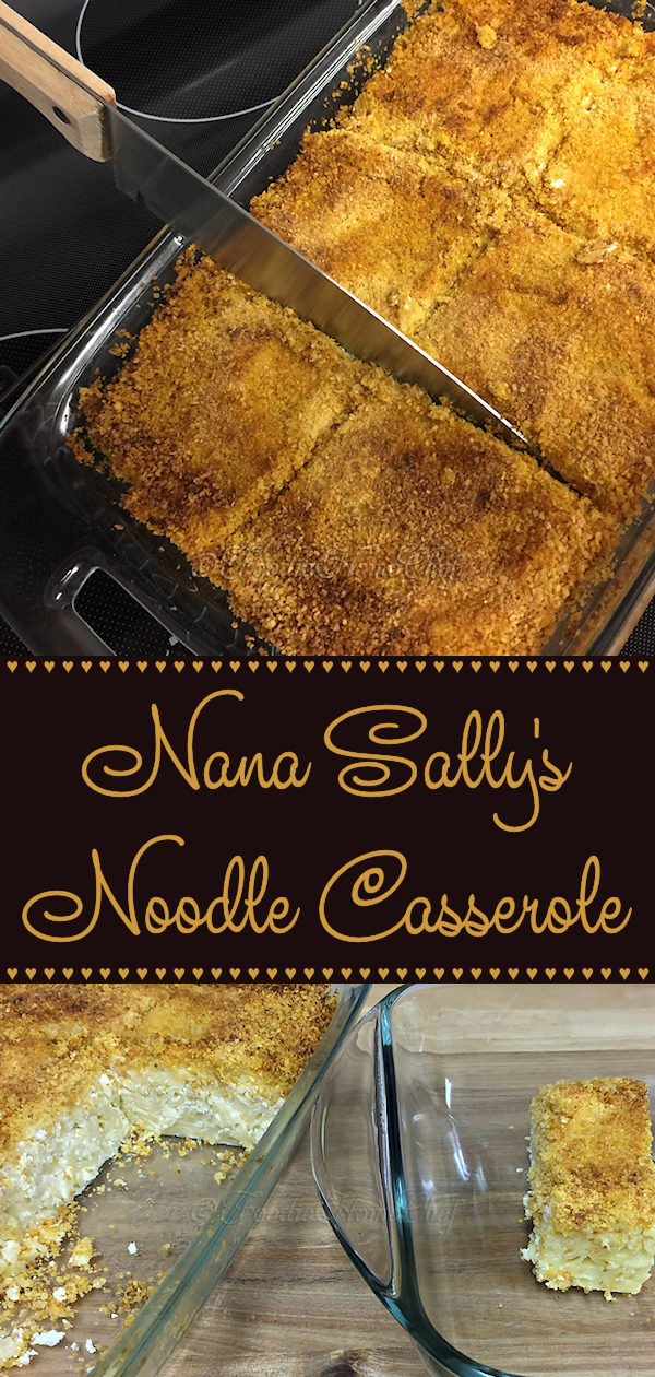 Nana Sally's Noodle Casserole - Growing up this was one of my favorite comfort foods. Every time my Nana made her noodle casserole / cougle... I was right there at the table with fork in hand. I'm so grateful that she handed down this recipe to me! Serves: 4 to 6 as a meal or 8 as a side dish --------- #Casserole #CasseroleRecipes #NoodleCasserole #Cougle #Kugel #Pasta #PastaCasserole #Dinner #SideDish #ComfortFood #Food #Cooking #Recipes #Recipe #FoodieHomeChef