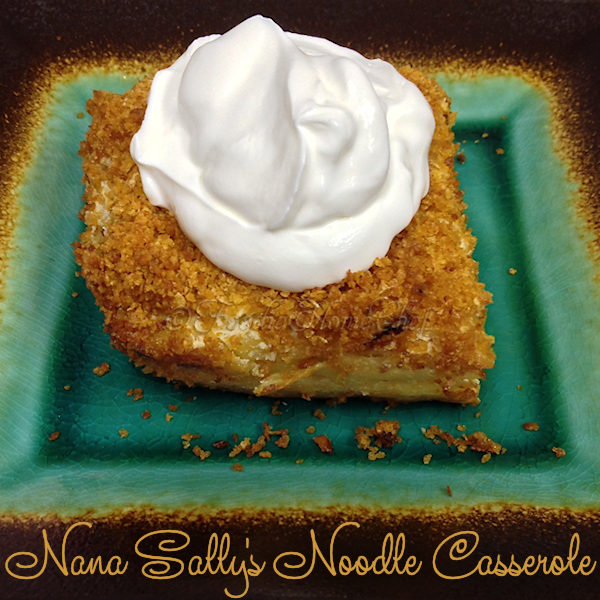 Nana Sally's Noodle Casserole - Growing up this was one of my favorite comfort foods. Everytime my Nana made her noodle casserole / cougle... I was right there at the table with fork in hand. I'm so grateful that she handed down this recipe to me! Serves: 4 to 6 as a meal or 8 as a side dish --------- #Casserole #CasseroleRecipes #NoodleCasserole #Cougle #Kugel #Pasta #PastaCasserole #Dinner #SideDish #ComfortFood #Food #Cooking #Recipes #Recipe #FoodieHomeChef