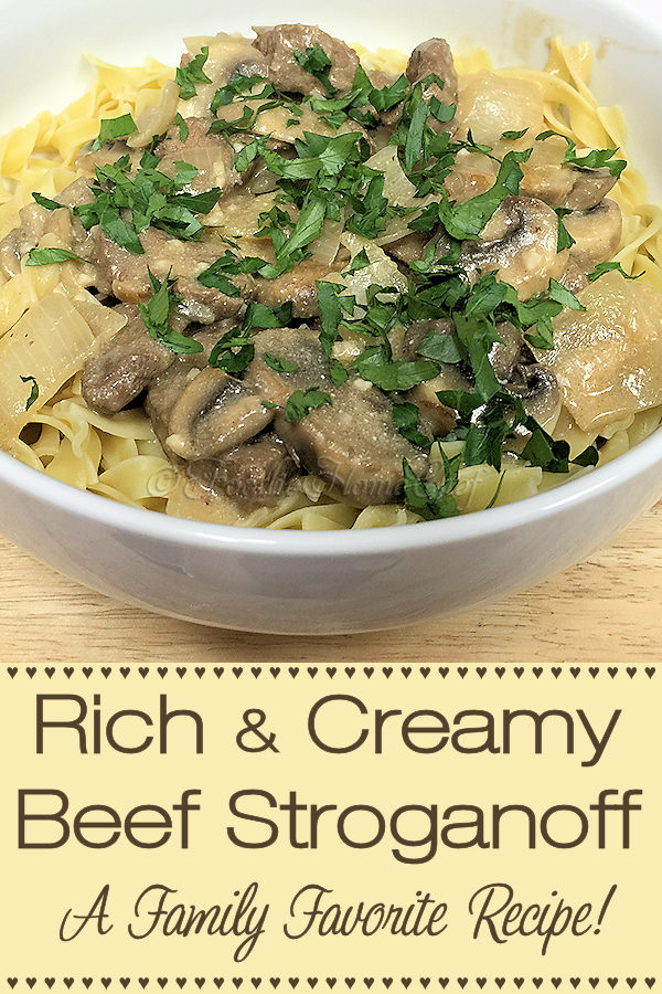 This rich & creamy Beef Stroganoff recipe is a real family favorite and a true comfort food! I've served this hundreds of times, to countless numbers of people, in the past 40 years & have always gotten rave reviews... even if you have other beef stroganoff recipes, give this one a try, you won't be sorry! --------- #BeefStroganoff #BeefRecipes #Stroganoff #MeatRecipes #ComfortFood #Food #Cooking #Recipes #Recipe #FoodieHomeChef