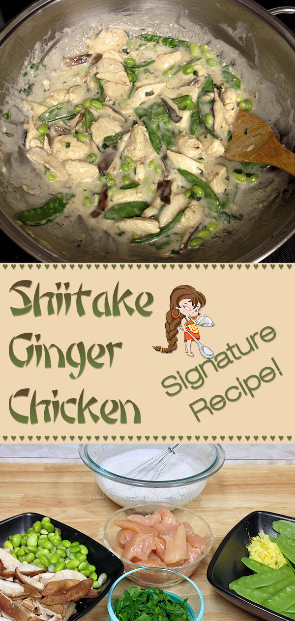 Shiitake Ginger Chicken is one of my Signature Recipes... so easy to prepare, can be prepped in advance & cooks up in no time. A terrific meal for those busy weekdays. Your whole family will love this earthy, creamy, delicious stir-fry! ---------  #ShiitakeRecipes #ShiitakeMushrooms #AsianFood #AsianRecipes #StirFry #StirFryRecipes #Chicken #ChickenRecipes #HealthyRecipes #ComfortFood #Food #Cooking #Recipes #Recipe #FoodieHomeChef