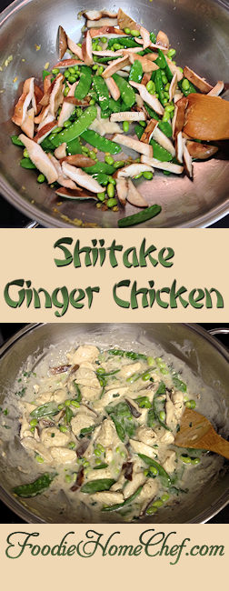 Shiitake Ginger Chicken - Earthy & creamy is the best way to describe this delectable meal. You can prepare everything in advance, cover & refrigerate, then cook it up in no time at all. In my house there's never any leftovers... what does that tell you?! --------- #Food #Cooking #Recipes #Recipe #Cuisine #GreatFood #HomeCooking #ComfortFood #AsianFood #AsianRecipes #StirFry #StirFryRecipes #Chicken #ChickenRecipes#ShiitakeMushrooms #ShiitakeRecipes #HealthyRecipes