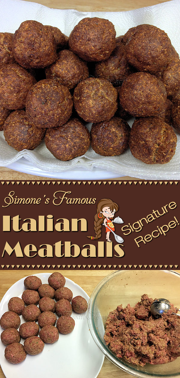 One of my Signature Recipes that I've been making for over 40 years to rave reviews. Simmer meatballs, on low heat, for a couple of hours in your favorite pasta sauce. Serve with pasta, zoodles or make meatball subs & you'll be in Italian heaven! By the way... I always eat 1 or 2 right away, it's my treat for making & cooking them! --------- #MeatballRecipes #Meatballs #ItalianMeatballs #HomemadeMeatballs #ItalianFood #ItalianRecipes #Italian #Food #Cooking #Recipes #Recipe #FoodieHomeChef