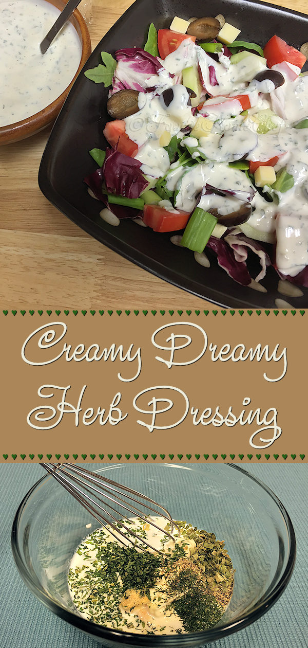 Making your own salad dressings, gives you full control over the ingredients. Not only that, but they taste so much better & are easier on your wallet! This Creamy Dreamy Herb Dressing is fairly low in calories compared to other creamy salad dressings. You'll definitely want to add this to your salad dressing recipe collection! ---------  #HerbSaladDressing #SaladDressing #SaladDressingRecipes #Salad  #LowCalorieSaladDressing #HomemadeSaladDressing #Food #Cooking #Recipes #Recipe #FoodieHomeChef