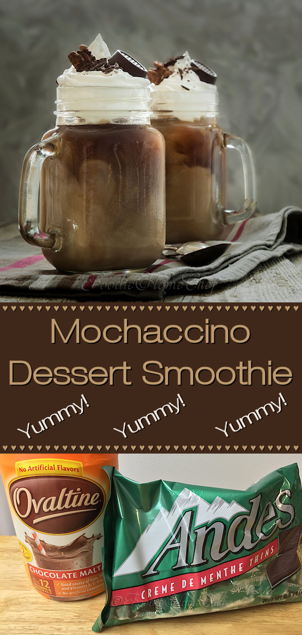 I developed this Mochaccino Dessert Smoothie as a copycat recipe of the Starbucks Frappuccino®. If I do say so myself... after many, many tries it came out perfect, maybe even better! Save your hard earned bucks & make this at home for a fraction of the cost! --------- #Mochaccino #Frappuccino #MochaSmoothie #Smoothie #Smoothies #SmoothieRecipes #DessertSmoothie #ChocolateSmoothie #Beverages #Dessert #Food #Cooking #Recipes #Recipe #FoodieHomeChef