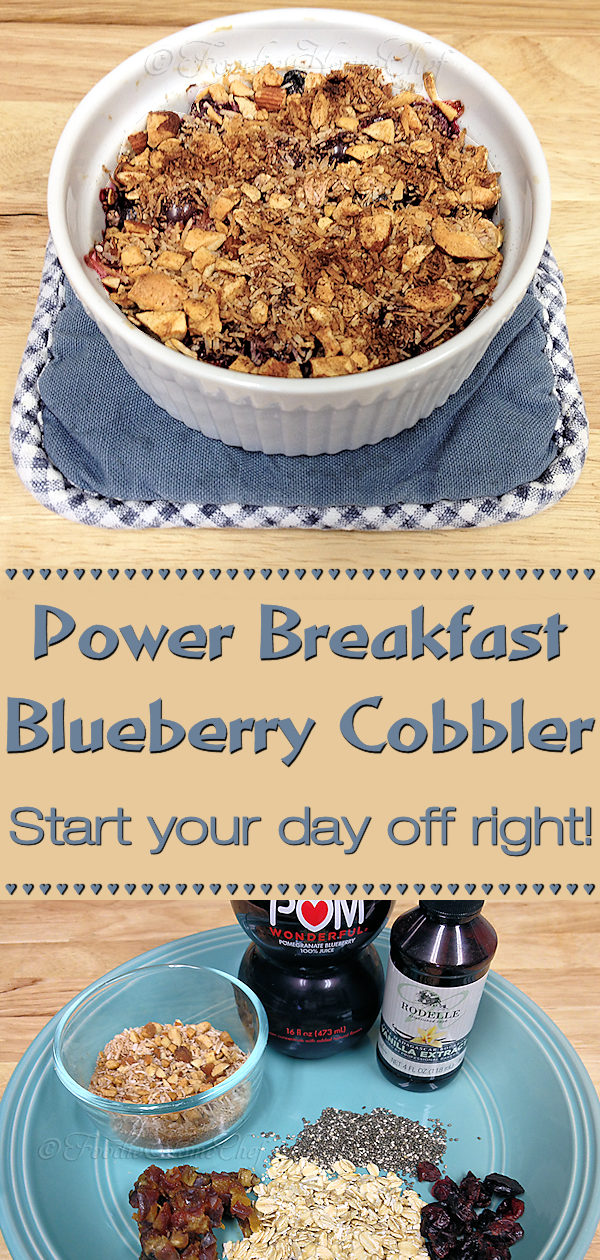 Get everyone's day off to a great start with these Power Breakfast Blueberry Cobblers! Your whole family will love these naturally sweet, warm, comfort food individual cobblers that are packed full of nutrients & superfoods. Yummy in your tummy! --------- #PowerBreakfast #BlueberryCobbler #BlueberryRecipes #Breakfast #BreakfastRecipes #ComfortFood #Cobblers #CobblerRecipes #HealthyRecipes #VegetarianRecipes #VeganRecipes #Fruit  #Food #Cooking #Recipes #Recipe #FoodieHomeChef