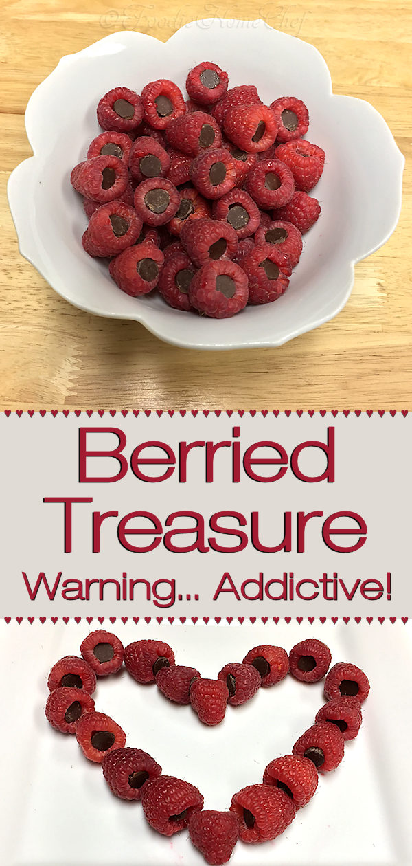 Raspberries & dark chocolate are 2 superfoods, so you don't have to feel guilty serving this fun, healthy, addictive snack or dessert. It's so easy to make & the kids will love to help. Perfect for Valentine's Day or a romantic date night dessert. --------- #Raspberries #Fruit #FruitRecipes #Dessert #Snacks #SnackRecipes #Chocolate #HealthyRecipes #HealthyDesserts #Valentine'sDay #DateNightDessert #Food #Cooking #Recipes #Recipe #FoodieHomeChef