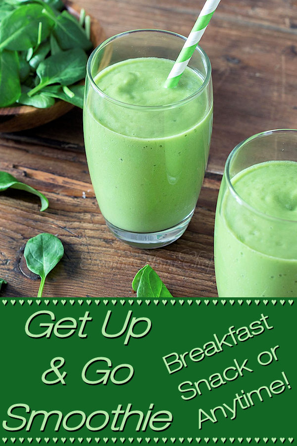 Fabulous healthy green smoothie with a great flavor! You'll certainly want to add this to your smoothie rotation at least a couple of times a week. It's a terrific breakfast or pick me up snack & is a perfect, healthy option  to serve on St. Patrick's Day. --------- #SmoothieRecipes #PowerSmoothie #GreenSmoothie #StPatricksDay #StPatricksDayRecipes #Beverages #Breakfast #VegetarianRecipes #HealthyRecipes #Food #Cooking #Recipes #Recipe #FoodieHomeChef