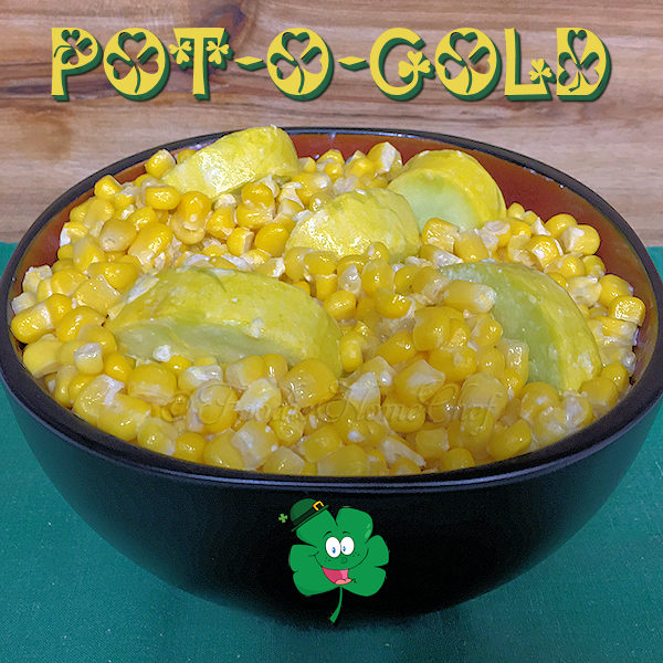 So easy to prepare & have on the table in no time! Pot-O-Gold is bright & cheery, creamy & delicious... a perfect recipe for St. Patrick's Day or any day of the week. Pairs up nicely with just about any dish, but especially delish with steak, chicken or seafood & a potato side dish. --------- #PotOGold #StPatricksDay #StPatricksDayRecipes #CornRecipes #SummerSquashRecipes #SideDish #SideDishes #SideDishRecipes #VegetarianRecipes #HealthyRecipes #Food #Cooking #Recipes #Recipe #FoodieHomeChef