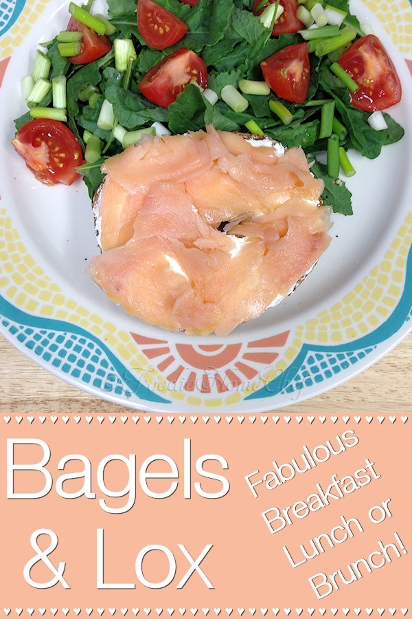 Of all the ways there are to eat a bagel, this is my favorite. With a side salad & a bit of dressing on top, this is the perfect brunch or light lunch. Serve it without the salad as a scrumptious breakfast that will put a smile on your face! --------- #BagelsAndLox #Bagel #Bagels #Lox #Sandwich #Sandwiches #SmokedSalmon #Breakfast #Brunch #Lunch #Easter #Food #Cooking #Recipes #Recipe #FoodieHomeChef