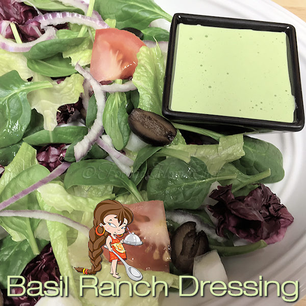 This salad dressing was created for an Ecology Themed pot luck I was invited to in the 1970's. I made it to go along with my Green Greens Salad recipe & it was a hit! Add this tasty dressing to your everyday salad dressing rotation & you can also serve this as a vegetable dip at your next party. --------- #BasilRanchDressing #RanchSaladDressing #RanchDressing #Salad #SaladDressing #SaladDressingRecipes #HomemadeSaladDressing #VegetableDip #Food #Cooking #Recipes #Recipe #FoodieHomeChef