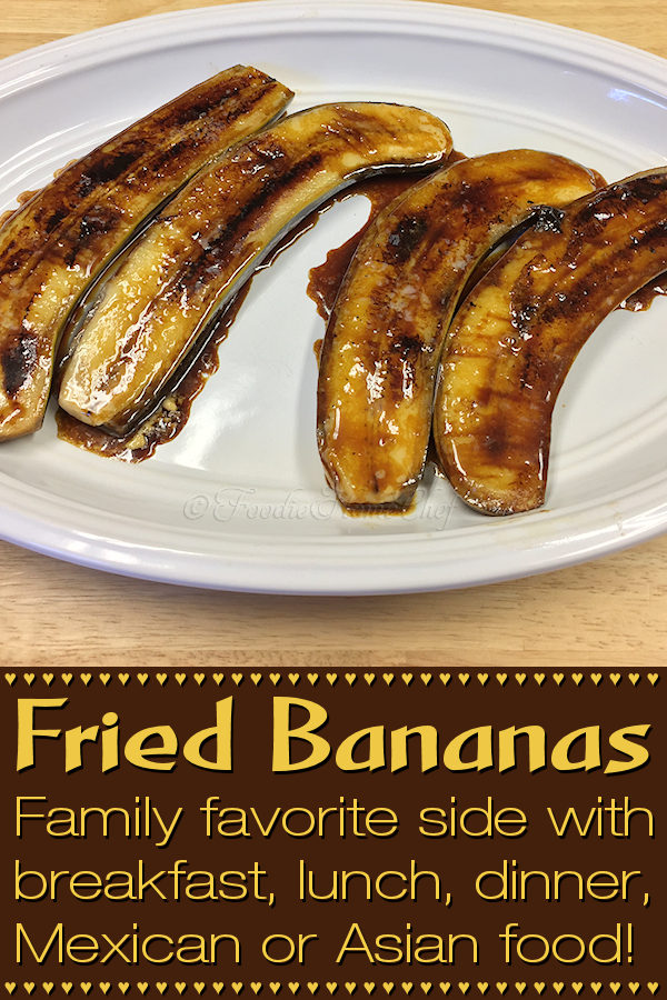 Breakfast, lunch or dinner... these fried bananas make a great side dish with just about any meal, adding a new level of flavor. They're especially tasty when served with spicy Mexican or Asian food, helping to cut down on