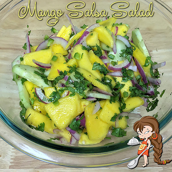 Everyone loves my healthy, easy to prepare Mango Salsa Salad & always asks me to bring it to BBQ's & gatherings. It makes a great side dish with Mexican food & Seafood or Grilled dishes. To feed a crowd... double, triple or quadruple the recipe & you're all set! --------- #MangoSalsa #Salsa #MexicanFood #MexicanRecipes #Salad #SaladRecipes #MangoRecipes #GameDayRecipes #SideDishes #VeganRecipes #VegetarianRecipes #Keto #KetoRecipes #Food #Cooking #Recipes #Recipe #FoodieHomeChef