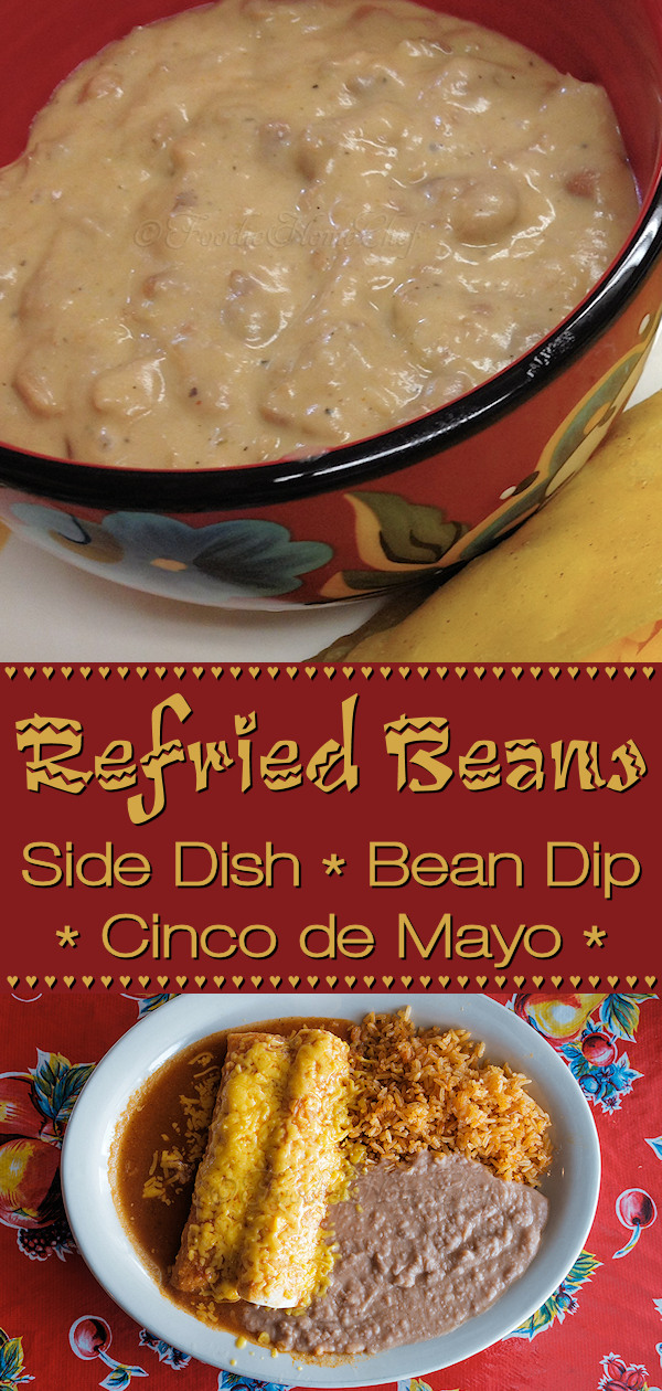 Refried Beans aren't just for serving with Mexican dishes. They also make a great addition to Nachos, inside Burritos, Tacos, Quesadillas & more... and if that wasn't enough you can serve Refried Beans cold as Bean Dip with tortilla chips at your next party or Game Day party & watch them disappear! --------- #RefriedBeans #RefriedBeansRecipe #MexicanFood #MexicanRecipes #SideDishes #Dip #DipRecipes #BeanDip #CincodeMayo #GameDay #GameDayRecipes #Food #Cooking #Recipes #Recipe #FoodieHomeChef