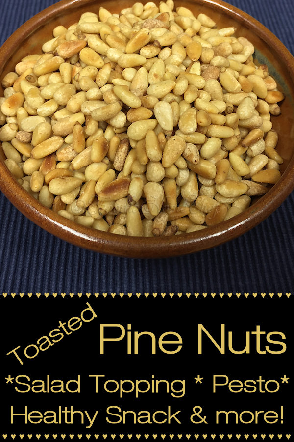 Toasted Pine Nuts have so many uses... from a salad topping to using as a garnish on Asian stir-fry to adding to homemade pesto to just serving as a snack or whatever you can come up with. I always have a glass container of these on hand in my frig for when I need them! --------- #PineNuts #Pinon #Pignolia #ToastedNuts #Pesto #SaladToppings #Snacks #VegetarianRecipes #VeganRecipes #HealthyRecipes #MexicanFood #AsianFood #CastIronCooking #Food #Cooking #Recipes #Recipe #FoodieHomeChef