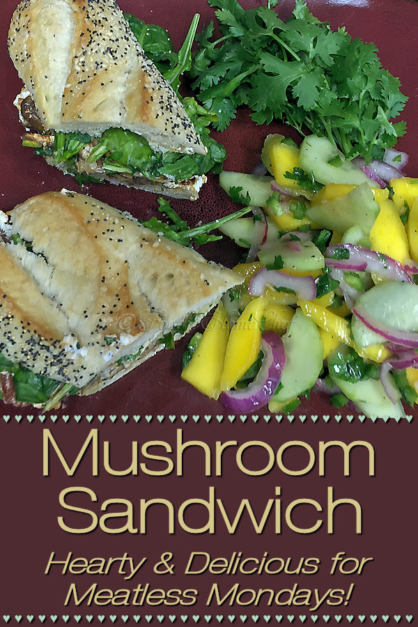 Looking for a hearty lunch or dinner for Meatless Mondays or any day of the week? This Mexican inspired sandwich really fits the bill & everyone I've served it to raves about it! | Foodie Home Chef @FoodieHomeChef ---------  #SandwichRecipe #Sandwiches #MexicanFood #MexicanRecipes #VegetarianRecipes #VeganRecipes #MushroomRecipes #HealthyRecipes #MeatlessMondays #FoodieHomeChef
