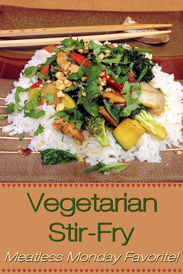 Vegetarian StirFry by Foodie Home Chef is a tasty, healthy recipe, full of superfoods, that can be prepared in advance for busy workdays & cooks up in no time! A favorite for Meatless Mondays and the best part is it's totally customizable. | Foodie Home Chef @foodiehomechef  #VegetarianStirfry #StirFry #StirFryRecipes #VegetableStirFry #AsianFood #AsianRecipes #AsianStirFry #VegetarianRecipes #VeganRecipes #Vegetables #VegetableRecipes #HealthyRecipes #MeatlessMondays #foodiehomechef