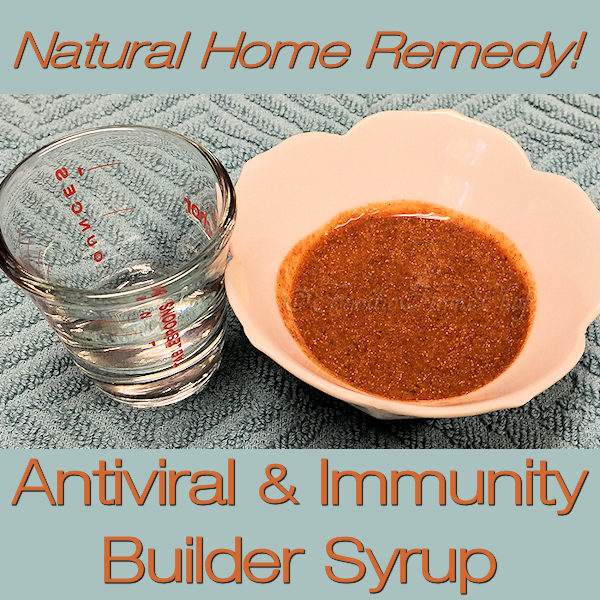 Build up your immune system with this Natural Antiviral & Immunity Builder Syrup by Foodie Home Chef. Taking this home remedy will help protect you during the cold & flu season. The best part is that it has no side effects that can sometimes happen while taking over the counter or prescription medications. #NaturalImmunityBuilder #NaturalAntiviral #ColdRemedies #FluRemedies #HomeRemedies #NaturalRemedies #Farmacy #FoodieFarmacy #foodiehomechef @foodiehomechef