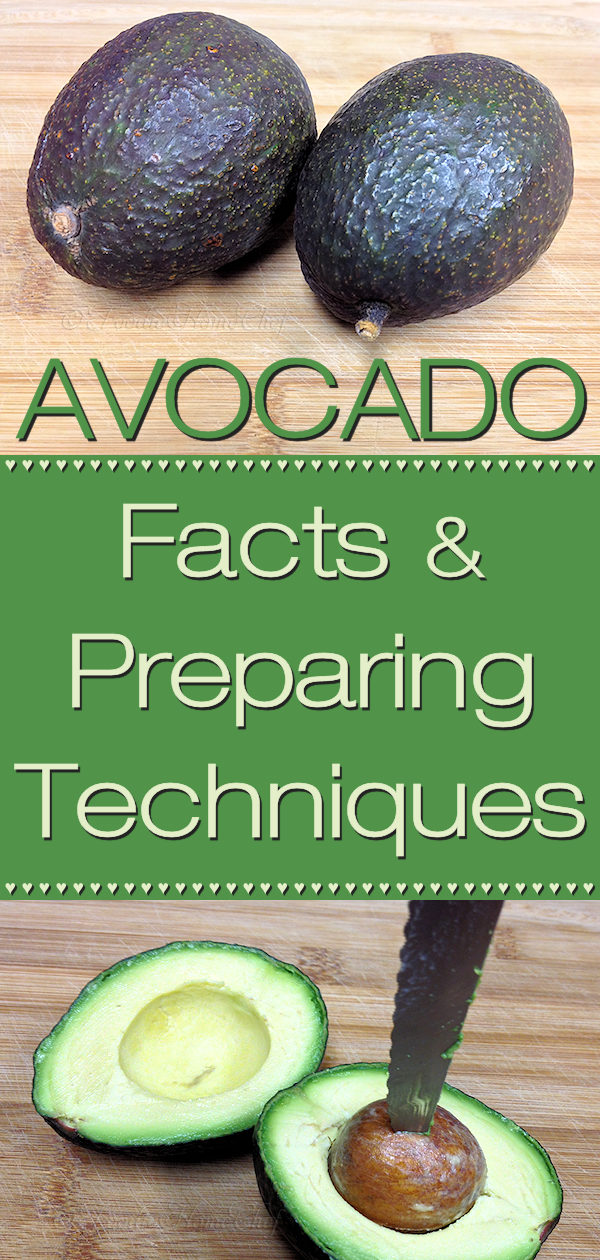 Interesting Avocado Facts, Nutritional Information & Preparing Techniques by Foodie Home Chef for a variety of uses from making salsa to salads to smoothies. #Avocado #AvocadoFacts #AvocadoInformation #AvocadoHowTo #Superfood #foodiehomechef @foodiehomechef